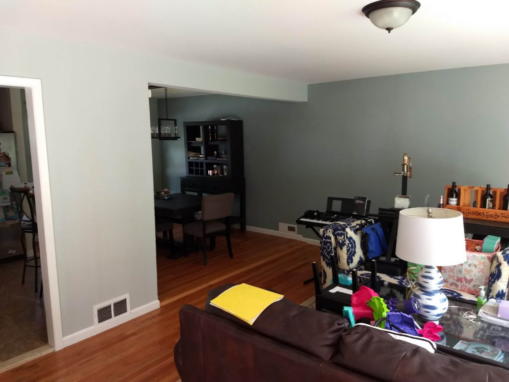 repainted walls in the living room